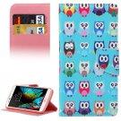 For LG  K10 Owls Flip Leather Case with Holder, Card Slots & Wallet