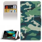 For LG  K10 Camouflage Flip Leather Case with Holder, Card Slots & Wallet