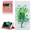 For LG  K10 Flower Tree Flip Leather Case with Holder, Card Slots & Wallet