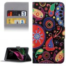 For LG  G5 Abstract Pattern Flip Leather Case with Holder, Card Slots & Wallet