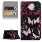 For LG  G5 Flowers Pattern Flip Leather Case with Holder, Card Slots & Wallet