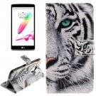 For LG G4 Stylus Tiger 2 Side Leather Case with Holder, Card Slots & Wallet