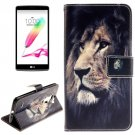 For LG G4 Stylus Lion 2 Side Leather Case with Holder, Card Slots & Wallet