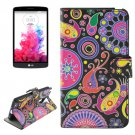For LG G3 Stylus Flowers Pattern Leather Case with Holder, Card Slots & Wallet