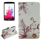 For LG G3 Stylus Vine Pattern Leather Case with Holder, Card Slots & Wallet
