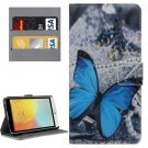 For LG L Bello II Butterfly Pattern Leather Case with Holder, Card Slots & Wallet