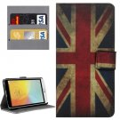 For LG L Bello II Union Jack Pattern Leather Case with Holder, Card Slots & Wallet