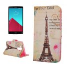 For LG G4 Eiffel Diamond Leather Case with Holder, Card Slots & Wallet