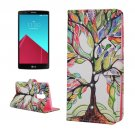 For LG G4 Tree Diamond Leather Case with Holder, Card Slots & Wallet