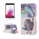 For LG G3 mini Peacock Diamond Leather Case with Holder, Card Slots & Wallet