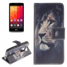 For LG Leon Lion Pattern Leather Case with Holder, Card Slots & Wallet