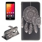 For LG Leon Windbell Pattern Leather Case with Holder, Card Slots & Wallet