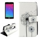 For LG Leon Dandelion Pattern Leather Case with Holder, Card Slots & Wallet