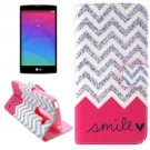 For LG Magna Smile Pattern Leather Case with Holder, Card Slots & Wallet