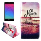 For LG Magna Dreaming Pattern Leather Case with Holder, Card Slots & Wallet