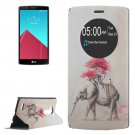 For LG G4 Elephant Pattern Leather Case with Holder & Caller ID Display