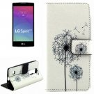 For LG Spirit Dandelion Pattern Leather Case with Holder, Card Slots & Wallet