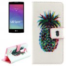 For LG Spirit Pineapple Pattern Leather Case with Holder, Card Slots & Wallet