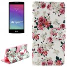 For LG Spirit Floral Pattern Leather Case with Holder, Card Slots & Wallet
