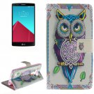 For LG G4 Owl 2 Side Pattern Leather Case with Holder, Card Slots & Wallet