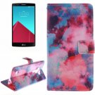 For LG G4 Clouds 2 Side Pattern Leather Case with Holder, Card Slots & Wallet