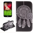 For LG G2 mini Wind 2 Side Pattern Leather Case with Holder, Card Slots & Wallet