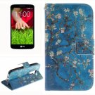 For LG G2 mini Plum 2 Side Pattern Leather Case with Holder, Card Slots & Wallet
