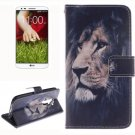 For LG G2 Lion 2 Side Pattern Leather Case with Holder, Card Slots & Wallet
