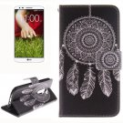 For LG G2 WindBell 2 Side Pattern Leather Case with Holder, Card Slots & Wallet