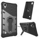 For LG X Style Black Rotating Tough Armor TPU + PC Combination Case & Holder