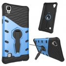 For LG X Style Blue Rotating Tough Armor TPU + PC Combination Case & Holder