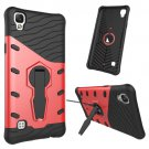For LG X Style Red Rotating Tough Armor TPU + PC Combination Case & Holder