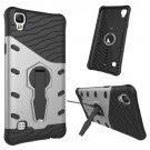 For LG X Style Silver Rotating Tough Armor TPU + PC Combination Case & Holder
