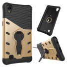 For LG X Power Gold Rotating Tough Armor TPU + PC Combination Case & Holder