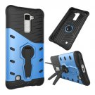 For LG K10 Blue Rotating Tough Armor TPU + PC Combination Case & Holder