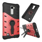 For LG K10 Red Rotating Tough Armor TPU + PC Combination Case & Holder