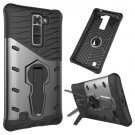 For LG K7 Grey Rotating Tough Armor TPU + PC Combination Case & Holder