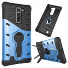 For LG K7 Blue Rotating Tough Armor TPU + PC Combination Case & Holder