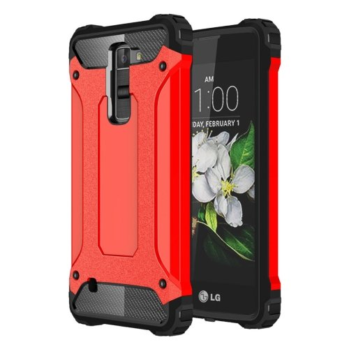 For LG K7 Red Tough Armor TPU + PC Combination Case