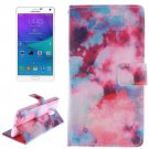 For Galaxy Note 4 Abstract Pattern Leather Case with Holder, Card Slot & Wallet