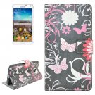 For Galaxy Note 4 Butterfly Pattern Flip Leather Case with Holder & Card Slots