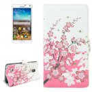 For Galaxy Note 4 Blossom Pattern Flip Leather Case with Holder & Card Slots