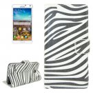 For Galaxy Note 4 Zebra Pattern Flip Leather Case with Holder & Card Slots