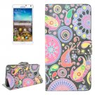 For Galaxy Note 4 Acaleph Pattern Flip Leather Case with Holder & Card Slots