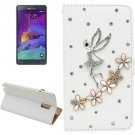 For Galaxy Note 4 Fairy Diamond Leather Case with Holder & Card Slots