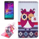 For Galaxy Note 4 Owl Magnetic Case with Holder, Wallet & Card Slots
