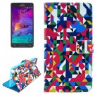 For Galaxy Note 4 Color Magnetic Case with Holder, Wallet & Card Slots
