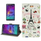 For Galaxy Note 4 Sweet Pattern Leather Case with Holder, Card Slots & Wallet