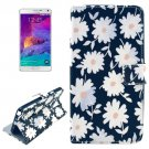 For Galaxy Note 4 Cross Flowers Leather Case with Holder, Card Slots & Wallet