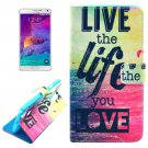 For Galaxy Note 4 Cross Love Leather Case with Holder, Card Slots & Wallet